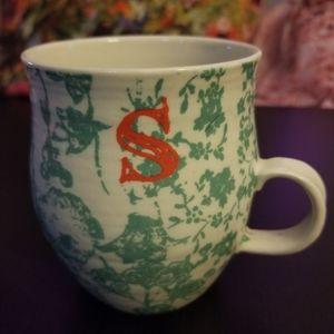 "Anthropologie ""s"" mug"